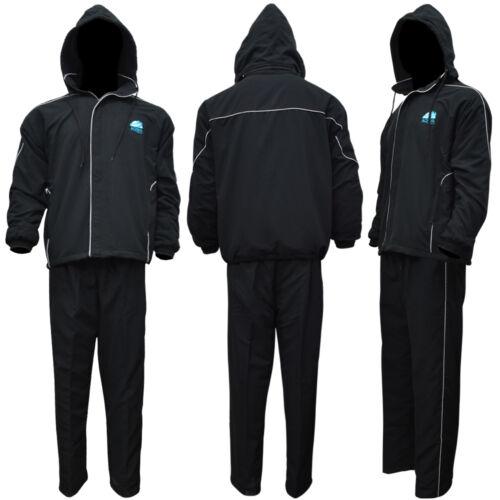 AQWA Sauna Track Suit With Detachable Hoodie Trouser Micro Twil Inner Fleece BLK