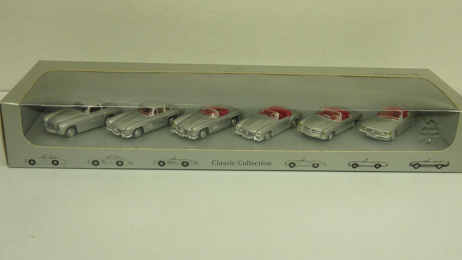 Hongwell 1 87 mercedes benz b6 604 5802 50 años sl 6 vehículos en embalaje original (a1649)