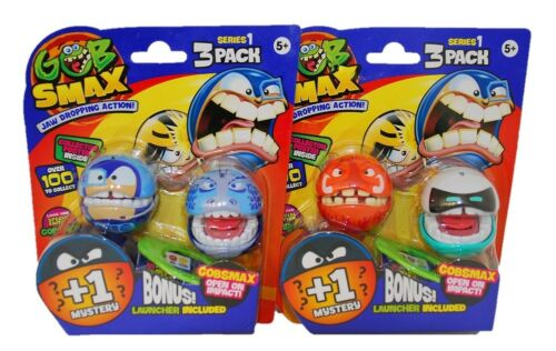 Goliath Gobsmax verschiedene Spielfiguren-Sets mit 3er Packs Jaw Dropping Action