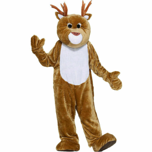 Plush Mascot Reindeer Costume One Size - Christma… - image 1