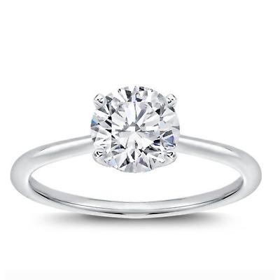 Diamond Ring 18K 0.72 CT J Color VVS1 Clarity GIA Certified Natural Round Cut