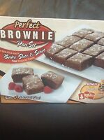"Schlecker Allstar Marketing Group Pb011106 ""As Seen On Tv"" Perfect Brownie Pan Set Set of 2 - 740275001813 Kitchen"