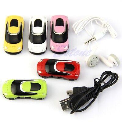 Car Shape 16G Support Micro SD TF Card Fashion Mini USB MP3 Music Speaker Player