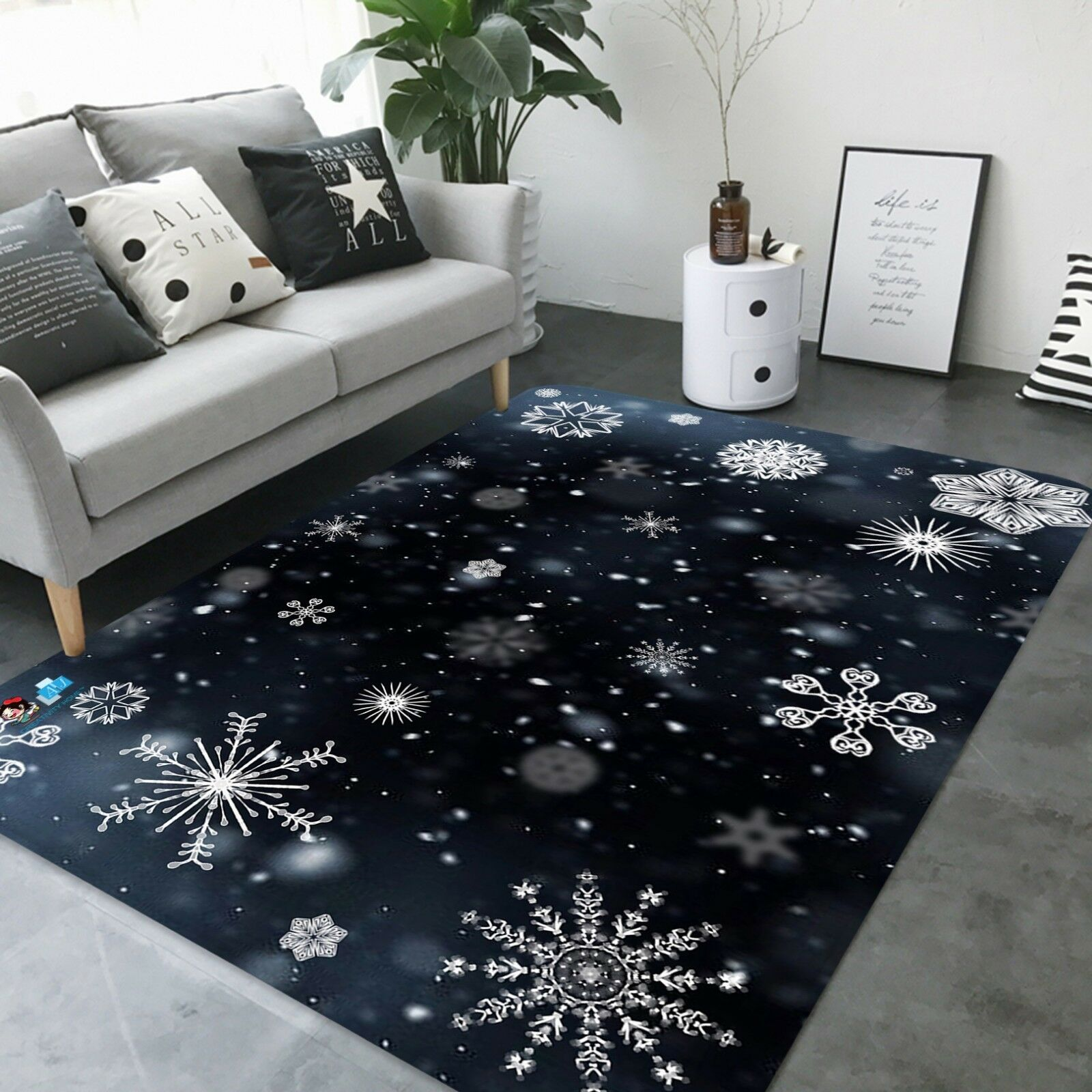 3D Christmas Xmas 780 780 780 Non Slip Rug Mat Room Mat Quality Elegant Photo Carpet AU 325c19