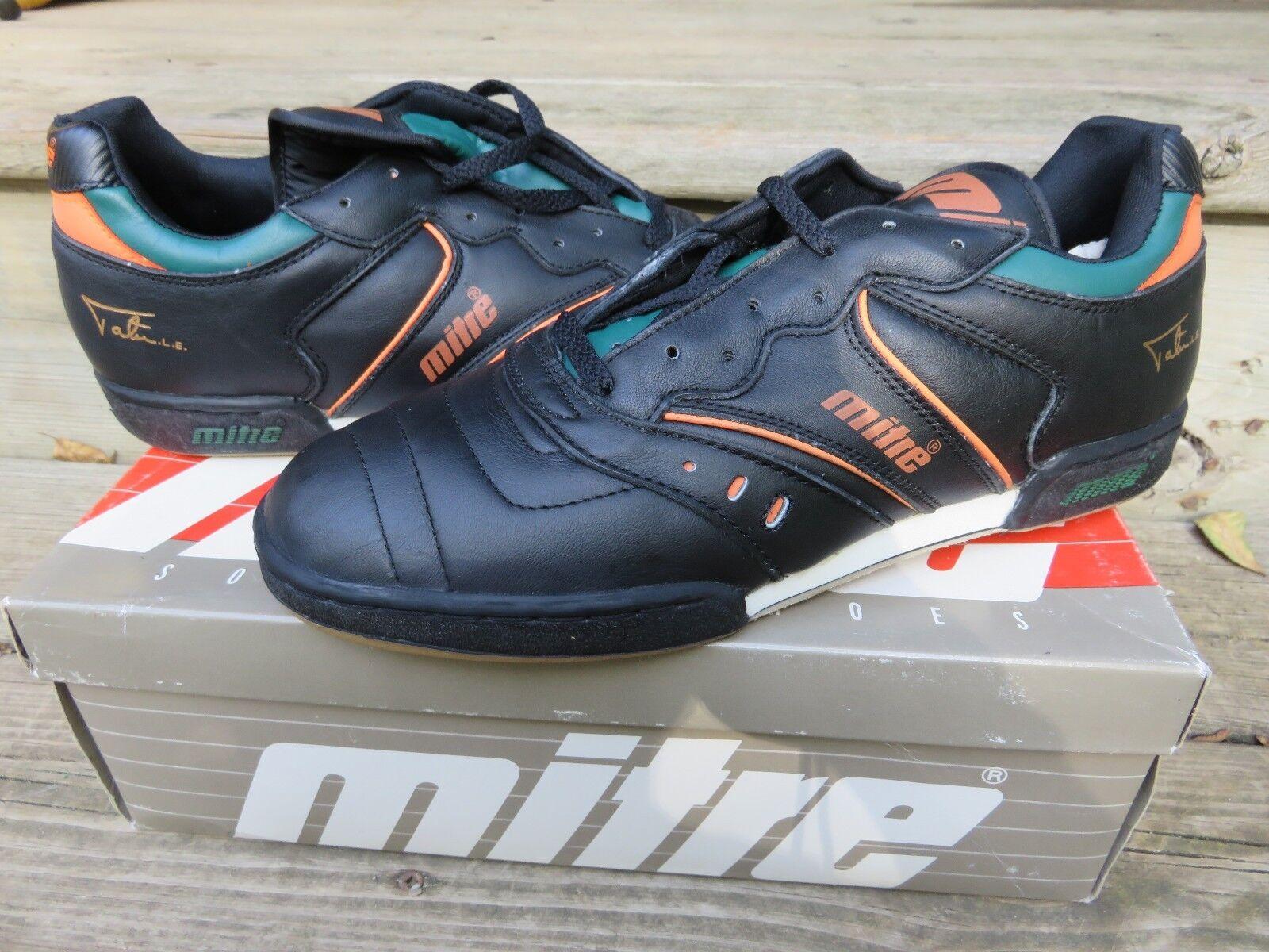 NOS Mitre Tatu Le Soccer Size 9.5 Athletic Indoor Cleats shoes Vintage NEW