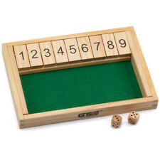 9 Number Shut the Box Board Game Circa Vintage Drinking Pub Dice Wooden C JF