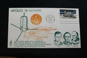 Espacio-Cubierta-1972-Maquina-Cancelado-Apolo-16-Sub-Satellite-Poner-Orbit-3028