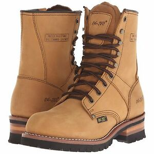 dd39cb1ae92 Details about 1740-M/W AdTec Men's 9'' Brown Steel-Toed Logger Boots