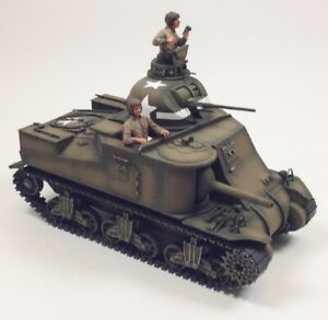 WWII-US-Army-M3-Lee-Tank-Built-Up-1-35-Scale-Plastic-Model-Kit-with-Two-Figures