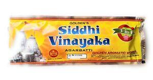 2x-Golden-039-s-Incense-Sticks-Siddhi-vinayaka-30gm-pack-Agarbatti-Sticks-Fragrances