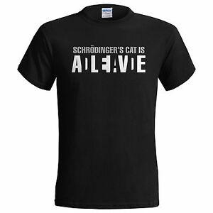 Schrodingers Cat Dead or Alive Mens T Shirt Big Bang Theory Sheldon Cooper