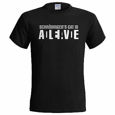 Schrodingers Cat Is Alive Big Bang Theory Sheldon Mens T Shirt  Small - 5XL