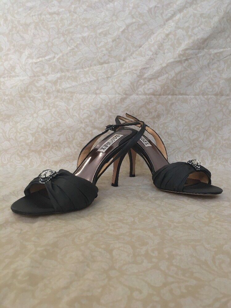 Badgley Mischka Oma Grey Satin, Women's Shoes, Size 6.5M