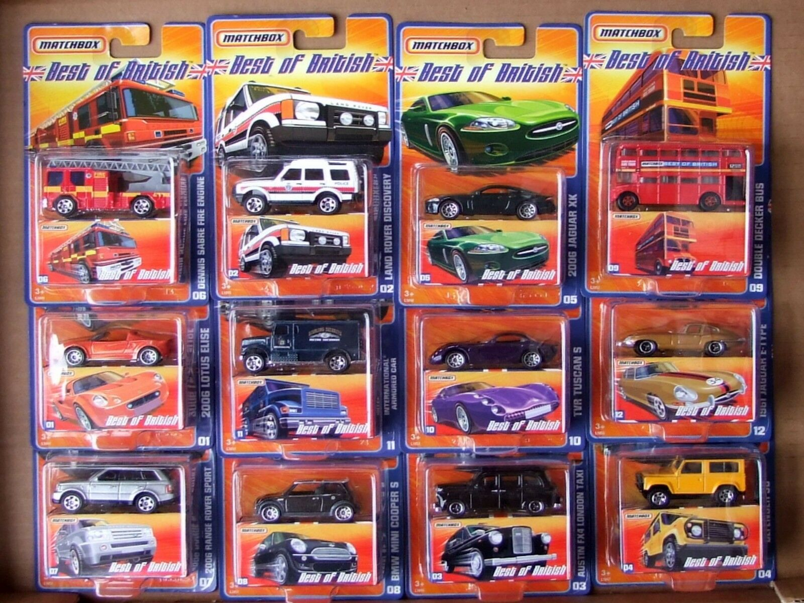 MATCHBOX 2006 Best of British 1. serie completamente PLUS LA SCATOLA ORIGINALE