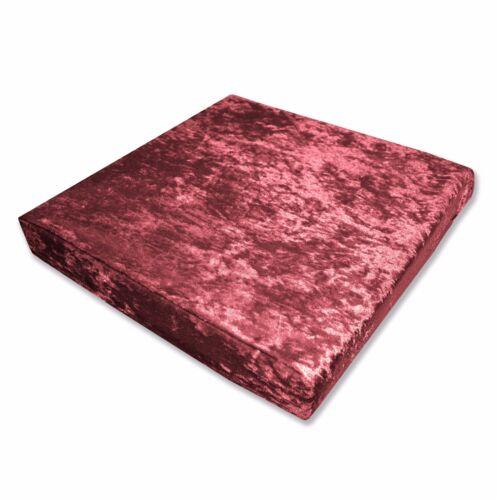 Mv08t Sherry Diamond Crushed Velvet 3D Box Sofa Seat Cushion Cover Custom size