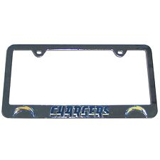 NEW LOS ANGELES CHARGERS - NFL TEAM LOGO 3D CHROME LICENSE PLATE FRAME