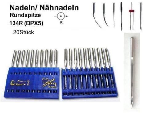 DPX5 Nadeln 134 R 160er für Nähmaschine 20 Nähnadeln