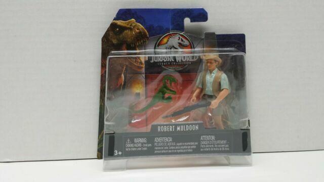 Jurassic World Ian Malcolm Mattel new in box Robert Muldoon Lot de 2