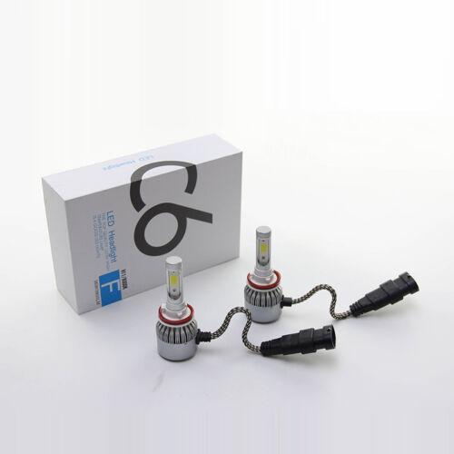 Pair C6 Cob LED Fog Lamp H8 H9 H11 6000K 36W HID LED Headlight Light Kits