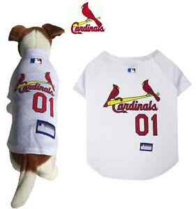 e5f2f5aad238 MLB Pet Fan Gear ST. LOUIS CARDINALS Dog Jersey Shirt for Dogs BIG ...