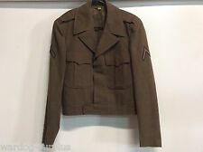 VINTAGE KOREAN WAR 1951 - 1955 EISENHOWER IKE U.S. MILITARY JACKET WOOL! 36 r