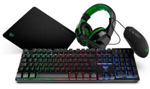 BG-Gaming-Setup-BG-X4-Teclado-raton-auricular-y-alfombrilla-Teclados
