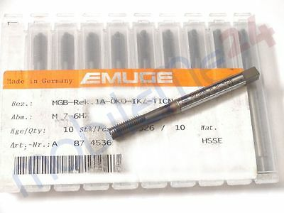 Emuge Gewindebohrer M7 6HX M7 HSSE Rek.1A-Öko-IKZ-TICN IKZ Einschnitt neu x1
