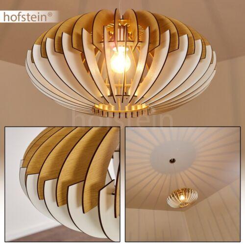Holz Hänge Pendel Leuchten Lampen Retro Design Ess Wohn Schlaf Raum Beleuchtung