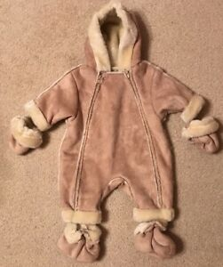 7f4af1797 NWT! Children's Place Baby Faux Fur Lined Zip Up Snowsuit/Coat Sz 0 ...