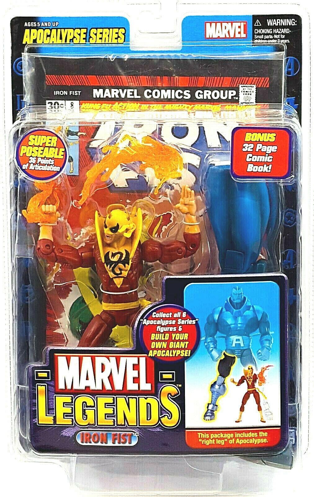 Marvel Legends Iron Fist Rosso Figura PVC 16cm
