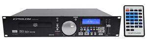 EPSILON-CDUSB-1000-2U-Rack-Mount-DJ-Single-CD-MP3-USB-Player-Scratch-Effects