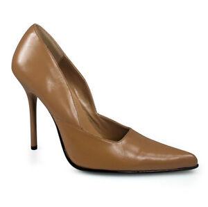01 Sexy Heels Damen Größe Spitze Pumps Pleaser Camel Milan High 37 Echtleder y8wvmN0nO