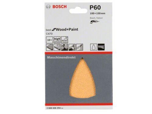 Couleur 10 S Bosch 2608608z94 Pastille de sablage pour triangle Meuleuse c470 K 60 bois U