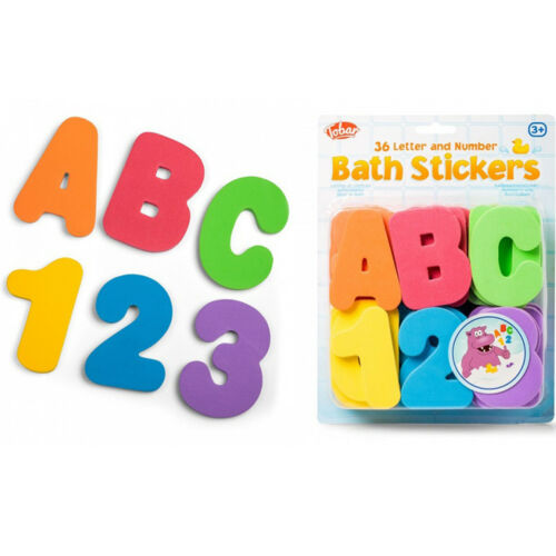 Tobar Bath Stickers Foam Letters and Numbers