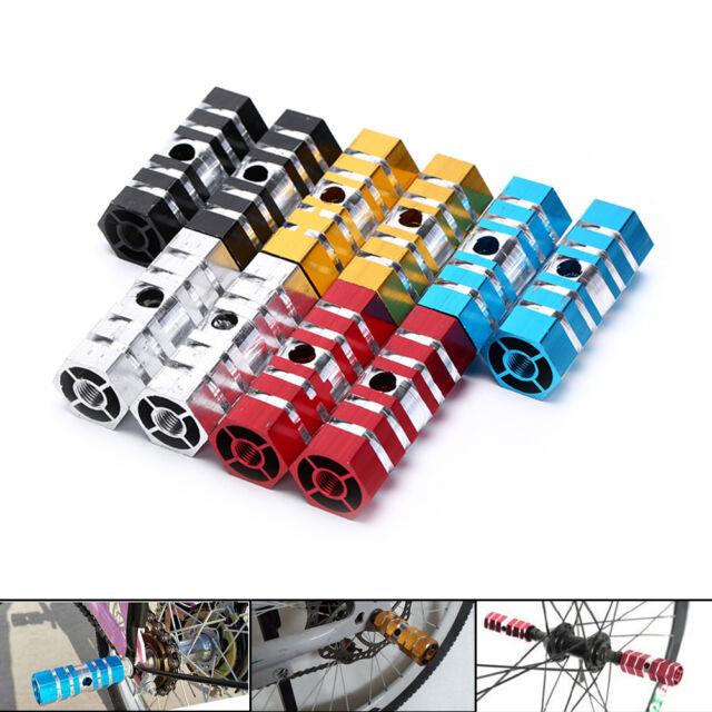Pegs Bike Bicycle Mountain Black Aluminum Axle BMX Stunt Pedal 2PCS Foot Alloy
