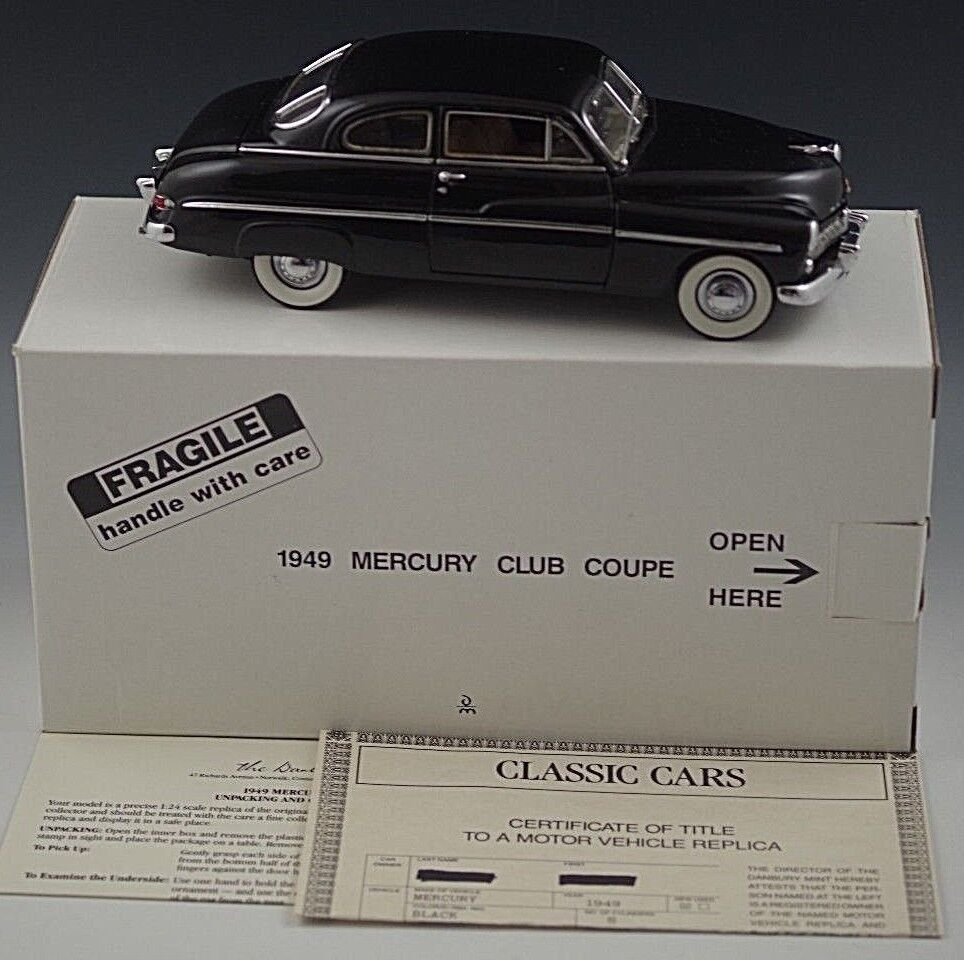 Mint club coupe von 1949 quecksilber 24 skala druckguss mib