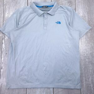 The-North-Face-Horizon-Golf-Polo-Mens-Large-Gray-Performance-Short-Sleeve-P120