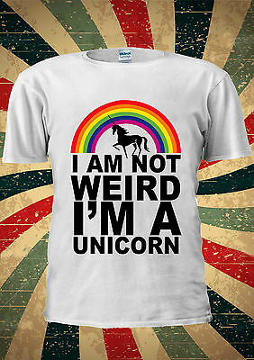 I Am Not Weird I'm A Unicorn Funny T-shirt Vest Top Men Women Unisex 2002