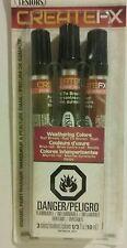 """Testors """"CREATEFX"""" weathering enamel markers: Rail brown, rail tie brown, rust"""