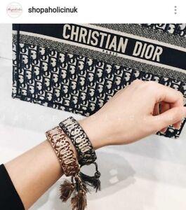 mejor valor de23c 5cef6 Detalles de Juego de dos pulseras de algodón j'adior Christian Dior- ver  título original