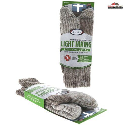 Thorlo Men/'s Light Hiking Socks 2 Pair Med ~ New