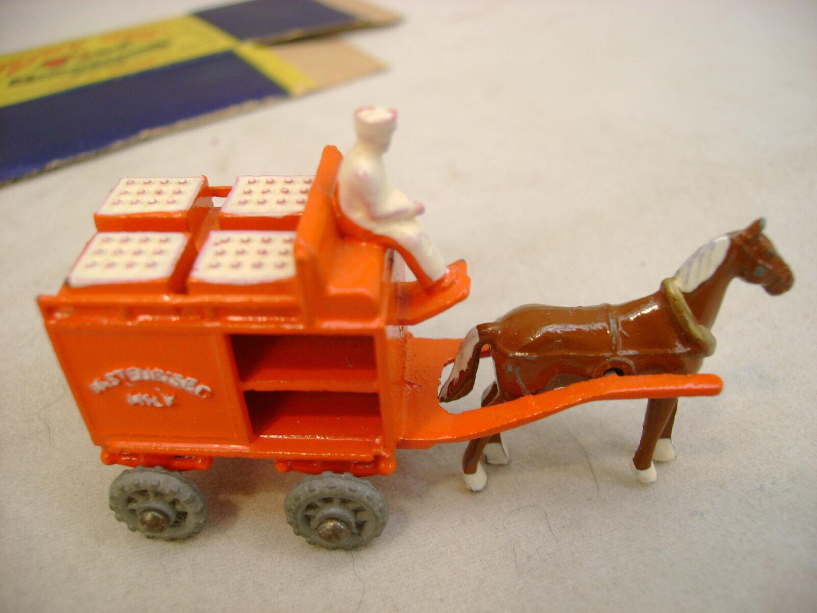 MATCHBOX MOKO LESNEY HORSE DRAWN MILK FLOAT METAL WHEELS WITH ORIGINAL BOX