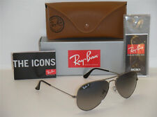 Ray Ban Polarized Aviator RB 3025 004/78 58mm Gunmetal Frame Blue Gradient Grey