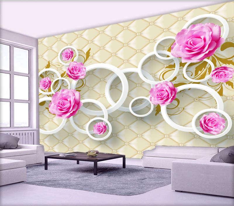 Tender Ablaze pink 3D Full Wall Mural Photo Wallpaper Printing Home Kids Decor