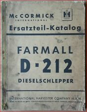 Mc Cormick Farmall D 212 Dieselschlepper Ersatzteil Katalog