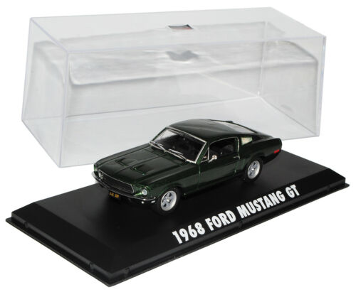 Ford Mustang Bullit Grün Coupe Steve McQueen 1//43 Greenlight Modell Auto mit ode