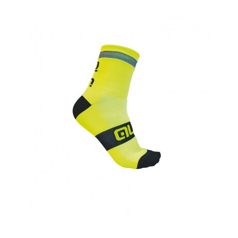 CALCETINES CICLISMO ALE ' REFLEX calcetines 10 10 10 en amarillo FLUO talla L 44-47 39517b