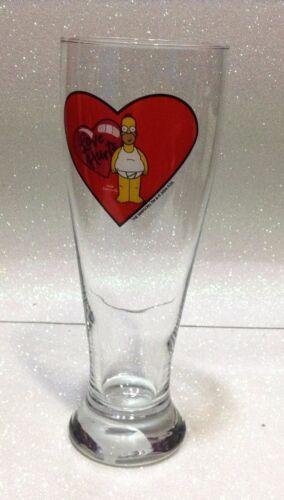 SAN VALENTINO BICCHIERE BIRRA BEER GLASS SIMPSON HOMER LOVE HURTS 23 CM