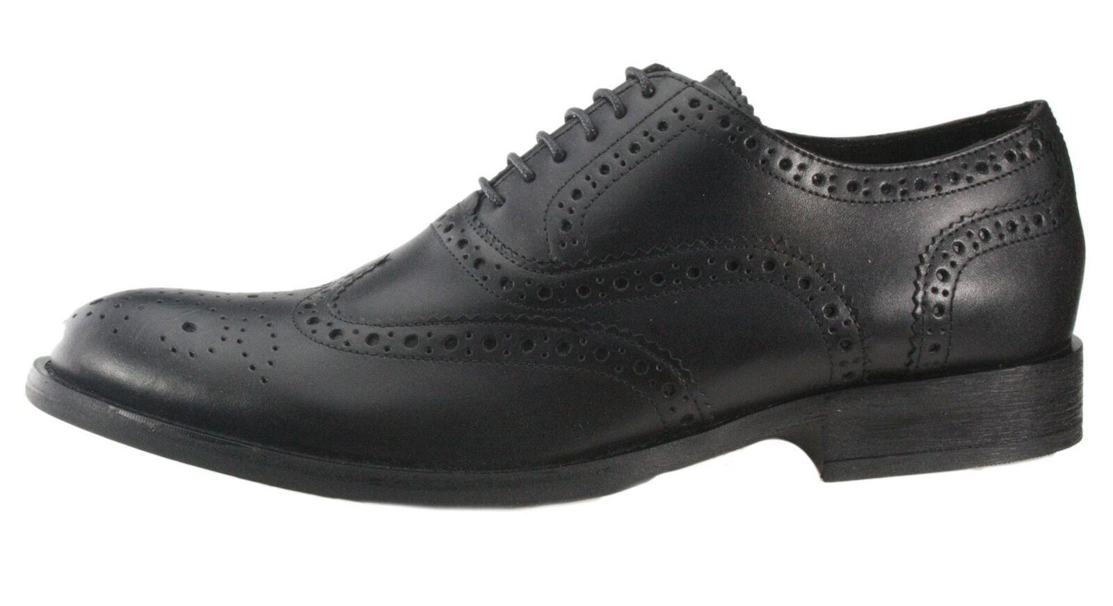 Base london hellbraun schwarz schwarz schwarz Halbschuhe zum Schnüren Leder Herren 257f3f