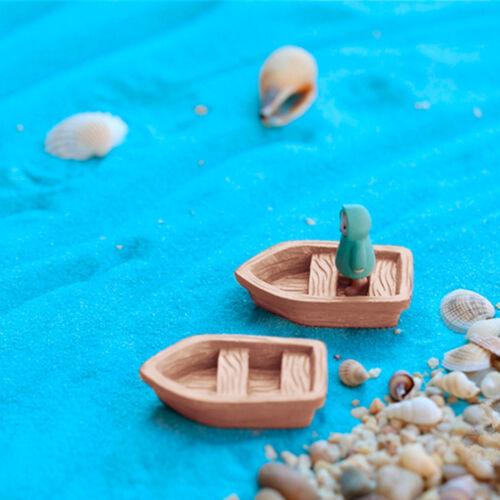 Garden Ornament Mini Boat Ocean Beach Aegean Sea Resin Fairy house Decor Al